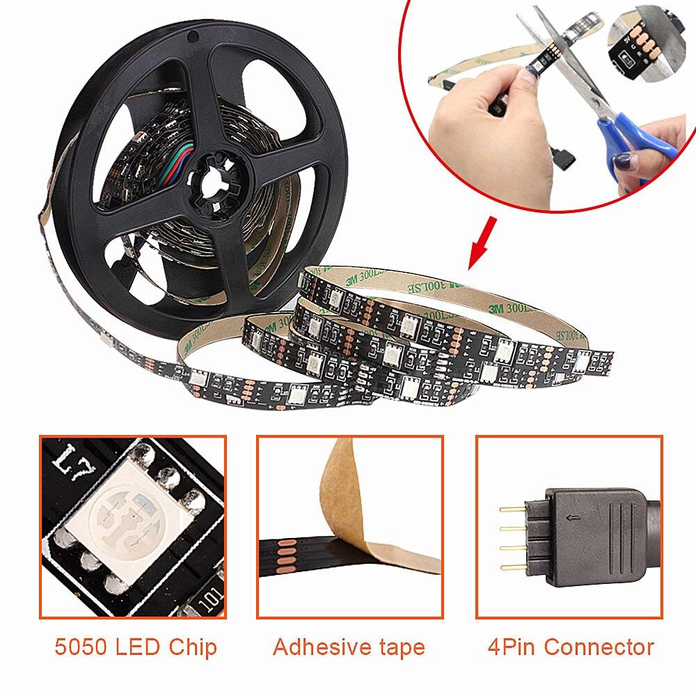 Светодиодная подсветка под шкаф RGB USB Светодиодная лента для кухни ночные светильники RF пульт дистанционного управления для домашнего шкаф...