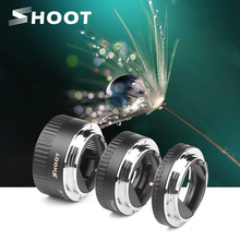 SHOOT Auto Focus Macro Extension Tube Ring for Canon EOS EF S Lens 1300D 1100D 1200D 1000D 4000D 700D 650D 450D 77D T6 Accessory
