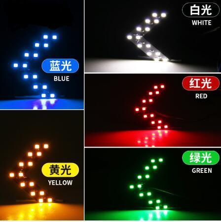2 предмета автомобиля 12V светодиодный рулевого светильник для Зеркало заднего вида автомобиля 14smd светодиодный стрелочный индикатор лампа