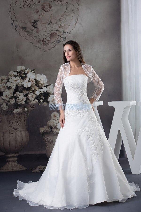 Free Shipping Winter Dresses Fashion 2016 Bride Long Chiffon Sexy Long Handmade Custom Lace Jacket White/ivory Wedding Dresses