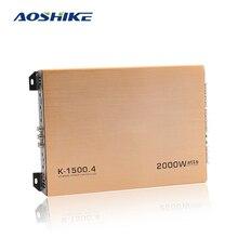 AOSHIKE 1PCS 4 Channel Car Amplifier 2000W HIFI Auto Power Stereo Bass Car Audio