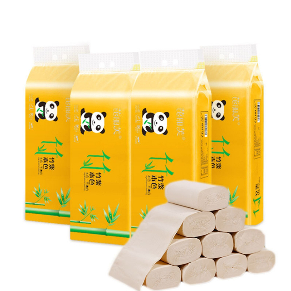 10 Rolls Paper Hand Towels Home Bath Toilet Paper Roll Paper Supplies Tissue Napkin Rescue Supply Prevention