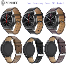 New Genuine Leather Wristband For Samsung 46mm Watches Bands Bracelet Adjustable Replacement Gear S3