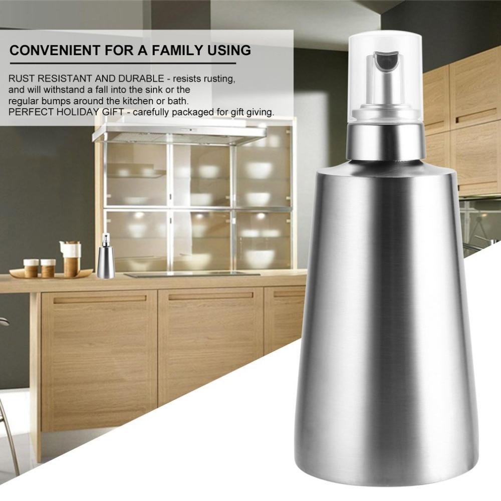 Stainless Steel Countertop Foaming Soap Dispenser Pump Head Bottle Foaming Liquid Soap Dispenser