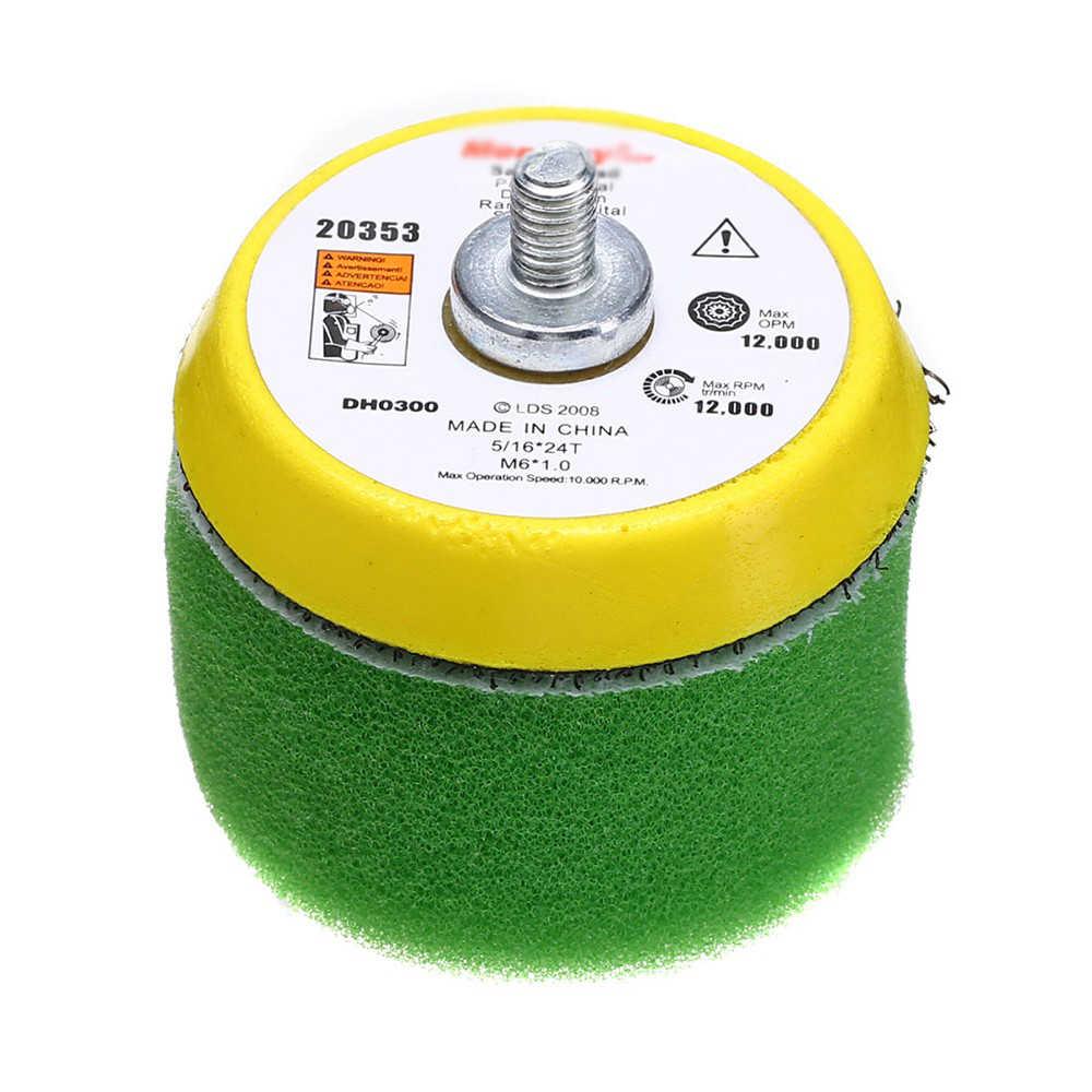 Platte Spons Polijsten Buff Pad Set Voor Air Sander Polijstmachine Auto Thread-M6X1 Geel/Zwart/Groen/Oranje/ rood