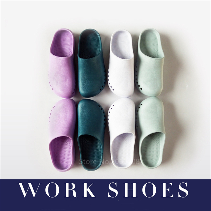 Medical Shoes Scrub Accessories Hospital Doctor Nurse EVA Solid Non-slip Slippers Surgical Work Wear Accessories Lab Clogs