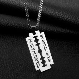 Ожерелье из нержавеющей стали, кулон бритва, ювелирные изделия, бисер, цепочка, Парикмахерская, тематическое ожерелье с буквами по заказу «...