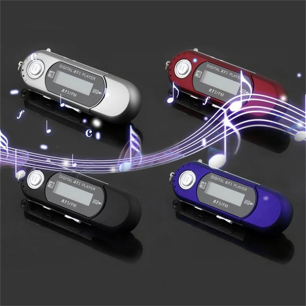 Small Size MP3 Players High Quality USB 2.0 Flash Drive Memory Stick LCD Mini Sports MP3 Music Player With FM Radio Car Gift