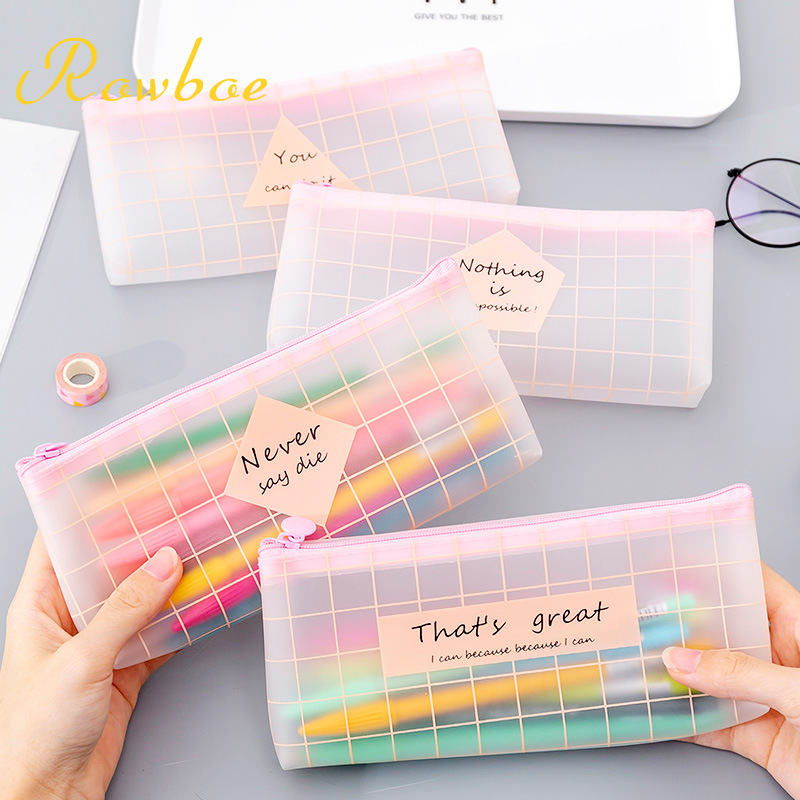 ROWBOE Cute Stationery Small Fresh And Simple Creative Pink Pencil Case Finishing Pencil Case Cute Pencil Case Kawaii Supplies