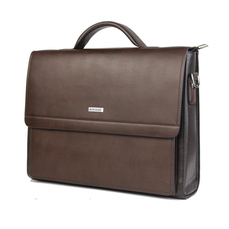 High Quality PU Leather Men's Briefcase Business Bag Durable Noble Men's Handbag Bag Model Trends Men's Briefcase Shoulder Bag
