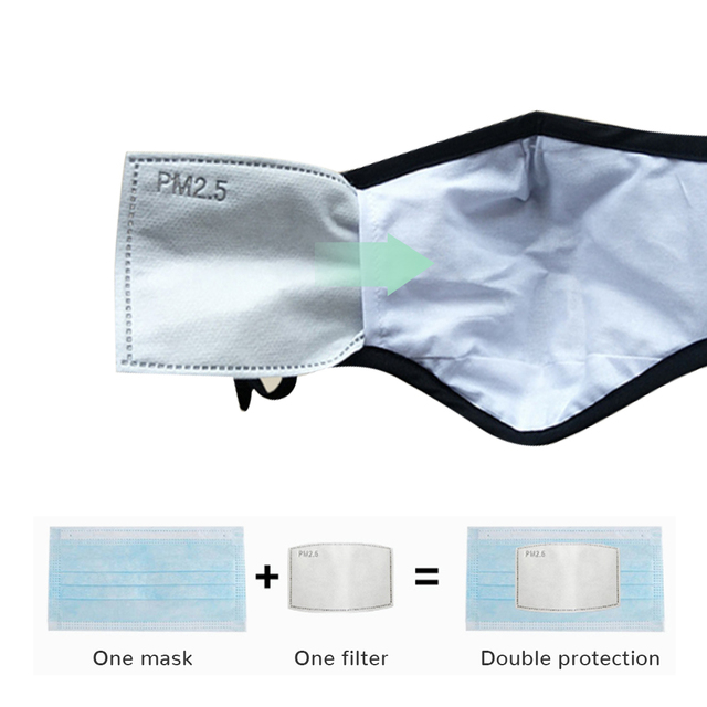 Pm25 Filter ARBON-FILTER-PAPER Mouth-Mask Activated Non-Woven Anti-Haze Kids/adult Face Mask With Filter Activated Carbon Pad 3
