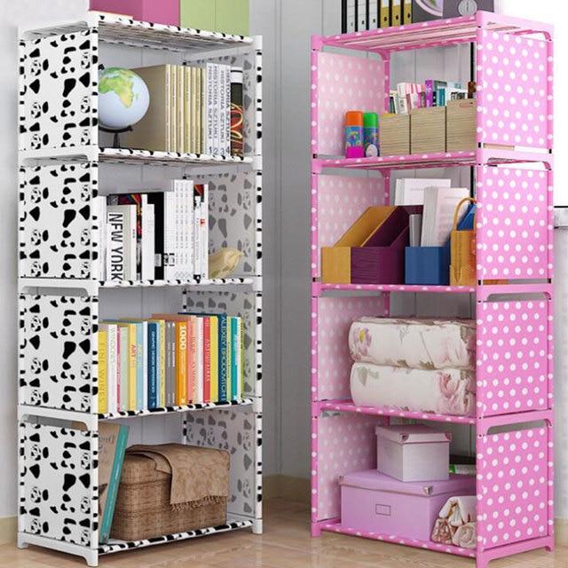 5-Shelf Bookcase Book Shelves Children Bookshelf Storage Bin Books Display Shelving Unit Organizer  Storage Shelves