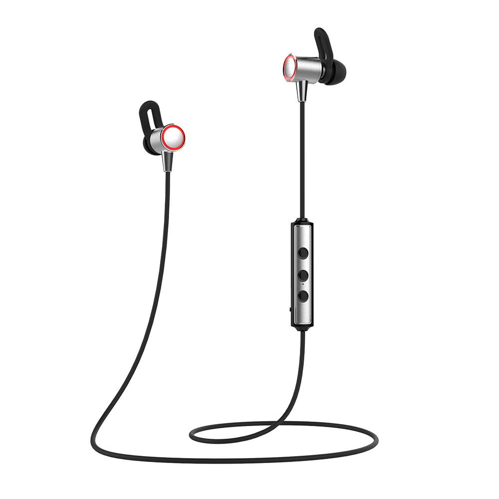 S60 Sport Bluetooth Earphone Running Sweatproof Wireless Headset Stereo Sound Wire Control Lodestone Earphone with Mic For Phone