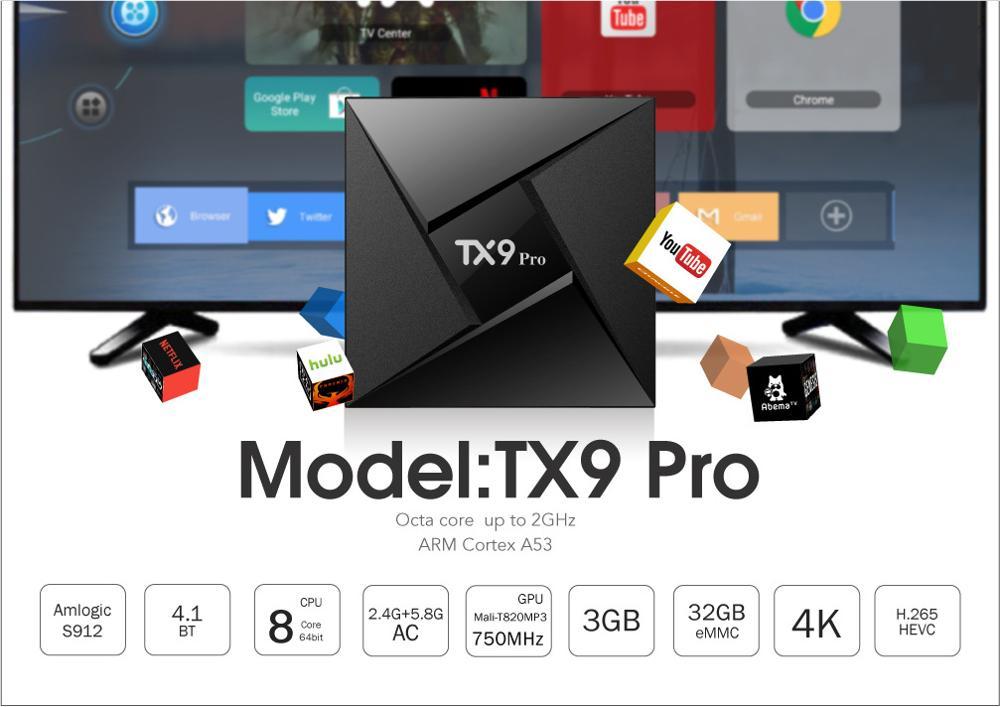 tx pro android tv box k amlogic s octa core gb gb smart