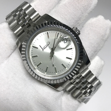 Get more info on the wholesale 11 colors 36mm unisex silver dial watch Glide Smooth second hand watch luminous mechanical Watches datejust AAA