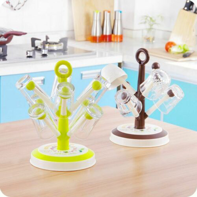 Cup Drain Rack Tree Shape Wine Glass Holder Mug Organizer Kitchen Sink Accessories J99Store