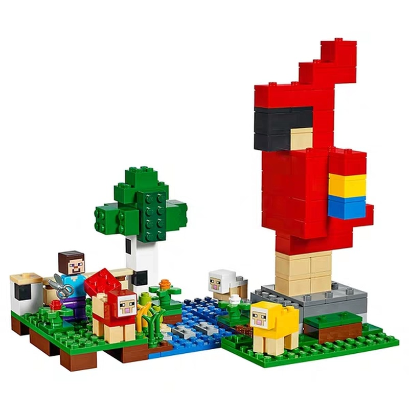 2019 My World Assembled Bricks The Wool Farm Compatible Legoing Minecing 21153 Building Blocks Toys for Children Christmas Gift 2