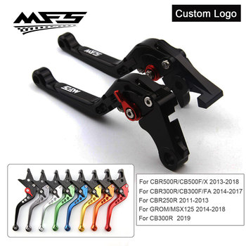 CNC Brake Clutch Levers Handle For Honda CBR500R CB500F CBR300R CB300F MSX125 CBR250R CB300R Motorcycle Brake Levers image