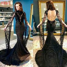 Черное Кружевное Платье Русалка для выпускного вечера винтажное