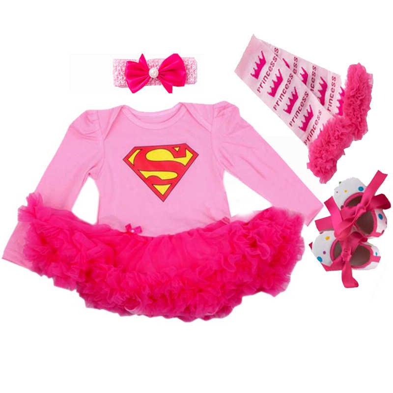 Lange mouwen baby meisje romper pasgeboren kant romper meisje baby pak kerst kostuums voor baby's en peuters 4 pcs/ 3 pcs/2 stks/set