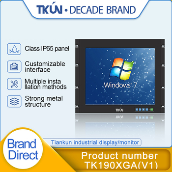 19 inch IP65 waterproof panel, industrial touch display, medical equipment, CNC equipment HD monitor TK1900