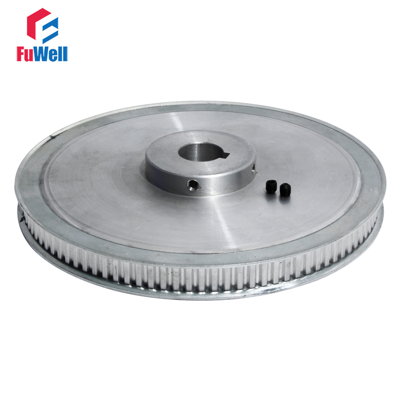 XL-100T Timing Pulley with Keyway Toothed Belt Pulley 11mm Belt Width 20mm Bore Aluminum Alloy 100Teeth XL Gear Pulley