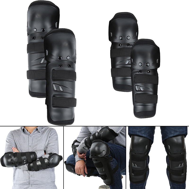 4 PCS Motorcycle Knee Pads Guards Elbow Racing Off Road Protective Knee pad Motocross Brace Protector Motorbike|Motorcycle Protective Kneepad| |  - title=