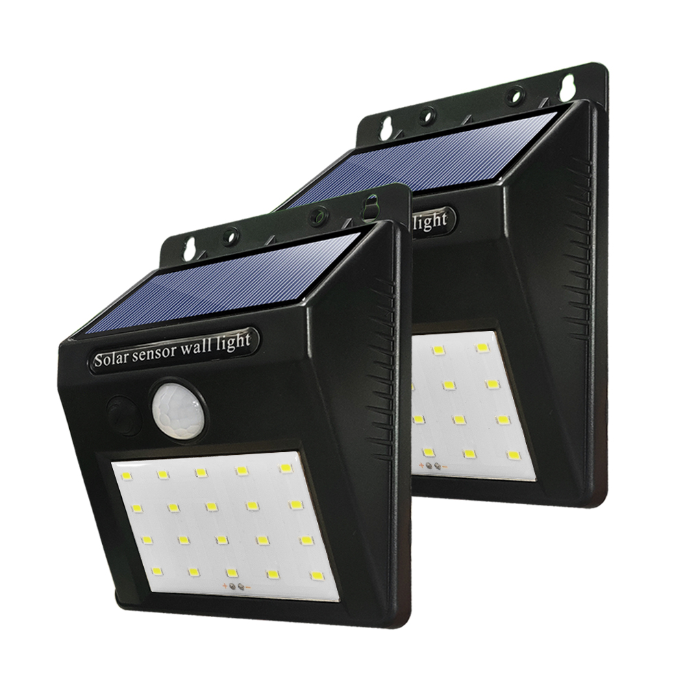 <font><b>20</b></font> LEDs Solar Powered Wall Lamps LED Porch Lights PIR Motion Sensor IP65 Outdoor Path Way Garden <font><b>Auto</b></font> ON/OFF Security Lamp image