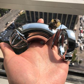 Super długi ze stali nierdzewnej mężczyzna urządzenie Chastity Chastity Belt Penis Chastity Seal Penis Cage tanie i dobre opinie zczlove CN (pochodzenie) EL0011S 1 Pcs Stainless Steel