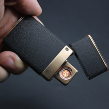 цена на Gadgets For Men Electrical  Charging Lighter Windproof Electronic USB Cigarette Lighter Custom Metal Dropship Suppliers