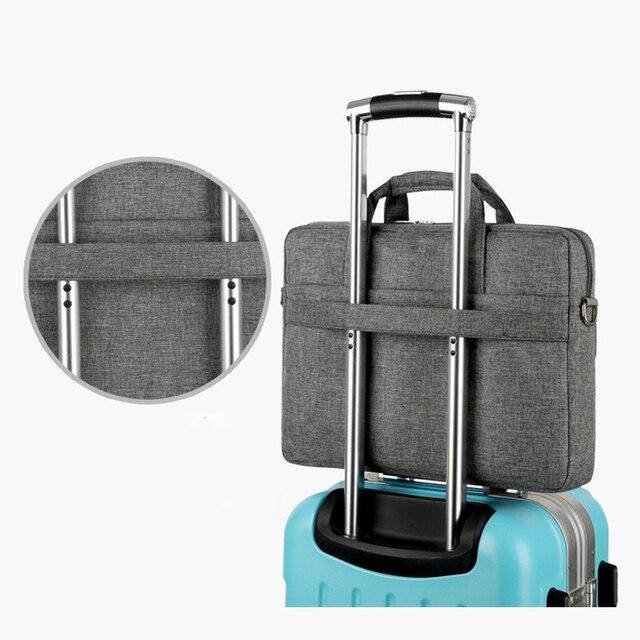 Sac à main daffaires 14 15.6 17 ordinateur portable sac à bandoulière pour lenovo Macbook Air 13 Case 2019 Pro retina 13.3 15 17.3 sacs de couverture