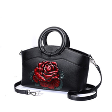 large women handbag genuine leather bags for women tote bag chinese style ladies shoulder bags floral cow leather handbags regem folk style luxury handbags 100% genuine leather handbag handmade chinese style diagonal stereo flower women bag