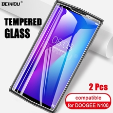 2 PCS Full Tempered Glass For DOOGEE N100 Screen Protector 2.5D 9h tempered glass on the For DOOGEE N100 Protective Film 25 pcs tempered glass for doogee s90 pro 6 18 glass screen protector 2 5d 9h tempered glass for doogee s90 protective film
