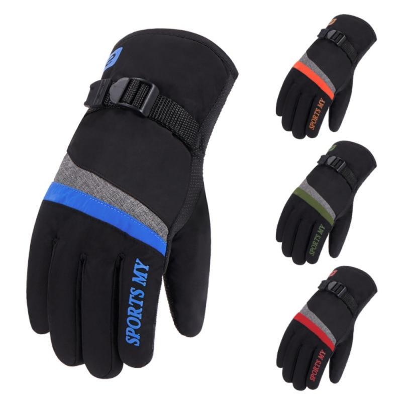 Unisex Winter Skiing Gloves Touch Screen Warm Waterproof Fleece Snowboard Gloves Motorcycle Riding Ski Snow Gloves