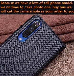 Image 4 - Funda para teléfono magnética Vintage Retro de cuero genuino para Huawei P Smart Z/Huawei P funda inteligente Coque caso de Funda