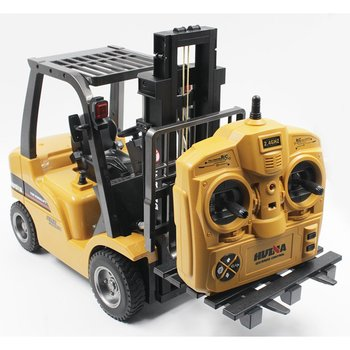 HUINA TOYS 1577 1/10 8CH Alloy RC Forklift Truck Crane Truck Construction Car Vehicle Toy with Sound Light Workbench Lift RTR