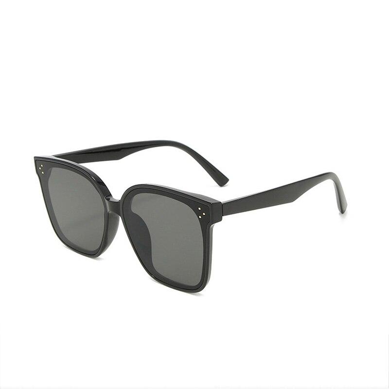 DAVE Lady Flat Top Sunglasses Women Luxury Brand Square Sun Glasses Female Oversized Frame Rivet Eyewear UV400