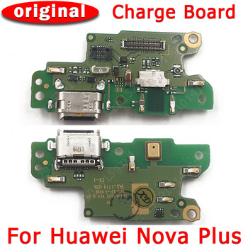 Original Charging Port For Huawei Nova Plus NovaPlus USB Charge Board PCB Dock Connector Flex Replacement Spare Parts image