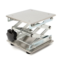 150 x 150Mm Stainless Steel Adjustable Laboratory Support Table Holder Laboratory Lifter   -