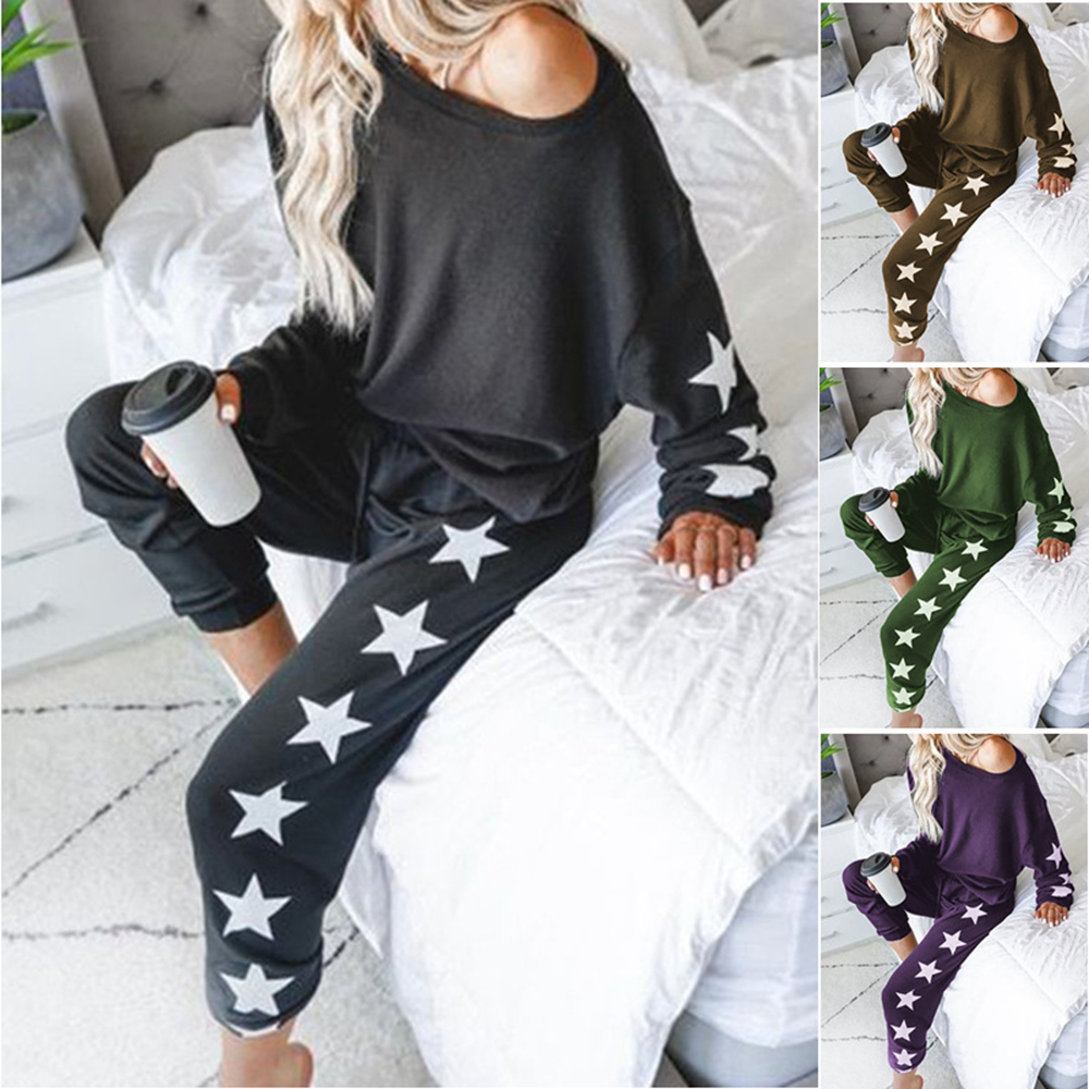 Women Sets Women 2 Pcs Sweatsuit Cotton Summer Pullover Suits Women Outfit Two Piece Tracksuits