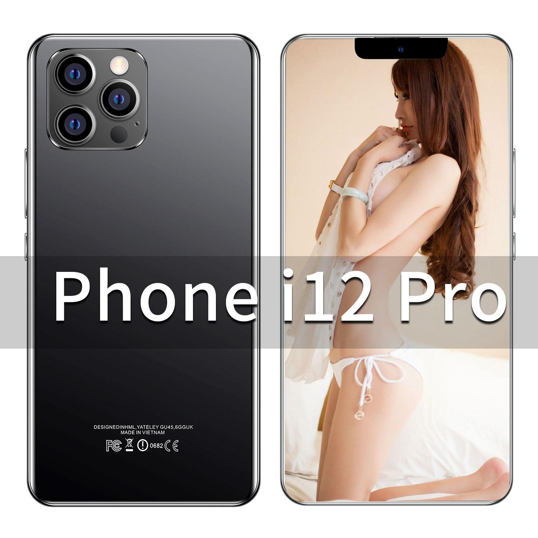 Смартфон i12 Pro, 6,7 дюйма, 12 + 512 ГБ, Android 888, 10 ядер, две SIM-карты, 6800 мА · ч