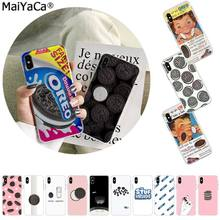 Maiyaca Biskuit Oreo Novelty Fundas Phone Case Cover untuk Apple Iphone 11 Pro 8 7 66S Plus X XS Max 5S SE XR Cover Mobile Cover(China)