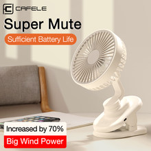 Cafele Mini Desktop Fan USB Rechargeable Summer Air Cooling Portable Clip style Desk Fan Small Mute Office Home Travel Car Fan(China)