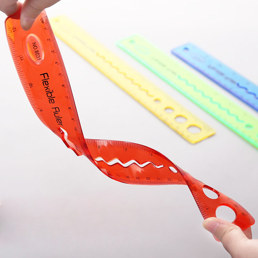 1X 20/30cm Creative Stationery Student Ruler Foldable Ruler Home Office School Kids Metric Tool Rewarding Promotional Gift