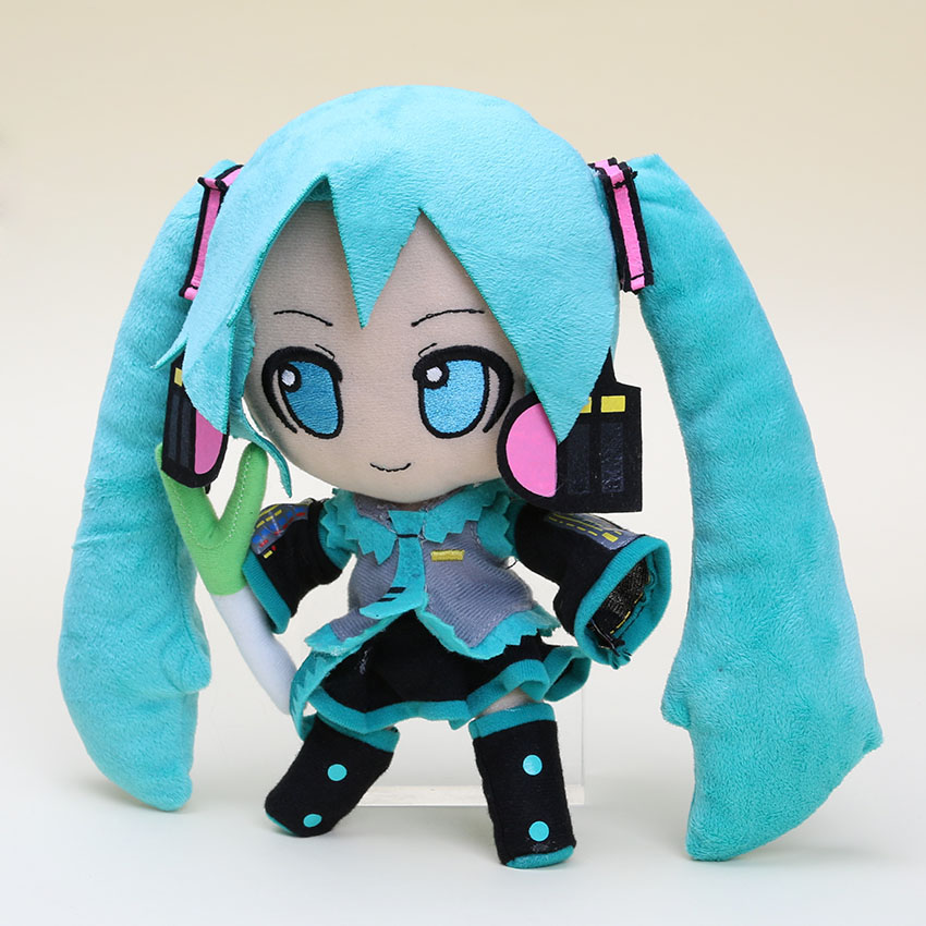24cm Anime Hatsune Miku Plsh Toy Hatsune Miku VOCALOID Series Snow Hatsune Miku Stuffed Soft Plush Doll Toys