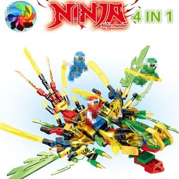 New  KAI JAY ZANE Ninja Dragon Knight Model Figures Building Blocks kids Toys Bricks gift for children boys