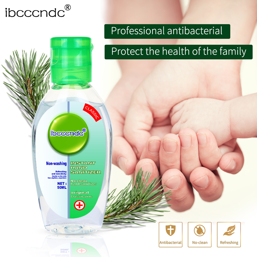 50ml Travel Portable Hand Sanitizer Gel Anti-Bacteria Moisturizing Liquid Disposable No Clean Waterless Antibacterial Hand Gel