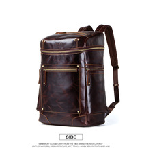 Men's backpack dermis large capacity waterproof retro 18-inch bucket multi-functional European and American travel