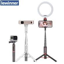 Lewinner LW 202pro esporte tudo em um portátil bluetooth tripé selfie vara monopé para gopro 7 6 5 iphone huawei xiaomi samsung