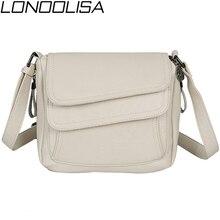 Bolso de hombro blanco para mujer, bandolera de piel auténtica suave, de lujo, de diseñador